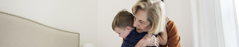 Mormor och son