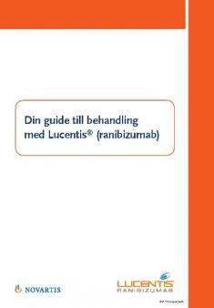 Guide för patient vid behandling med Lucentis vid RVO