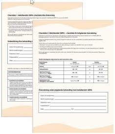 Bild som föreställer materialet checklistor vid MPH-behandling