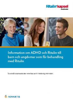 Bild som föreställer materialet Patientbroschyr om Ritalin® för barn och ungdomar