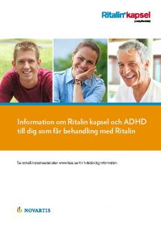 Bild som föreställer materialet patientbroschyr om Ritalin® för vuxna