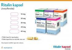 Bild som föreställer Ritalin® kapsel placebokort