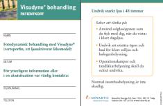 Patientkort för patient som behandlas med Visudyne